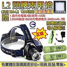 27022-興雲網購3店頭腰兩用燈美國CREE XM-L2強光頭燈1200流明手電筒(送全配直充+綠色凸頭版電池