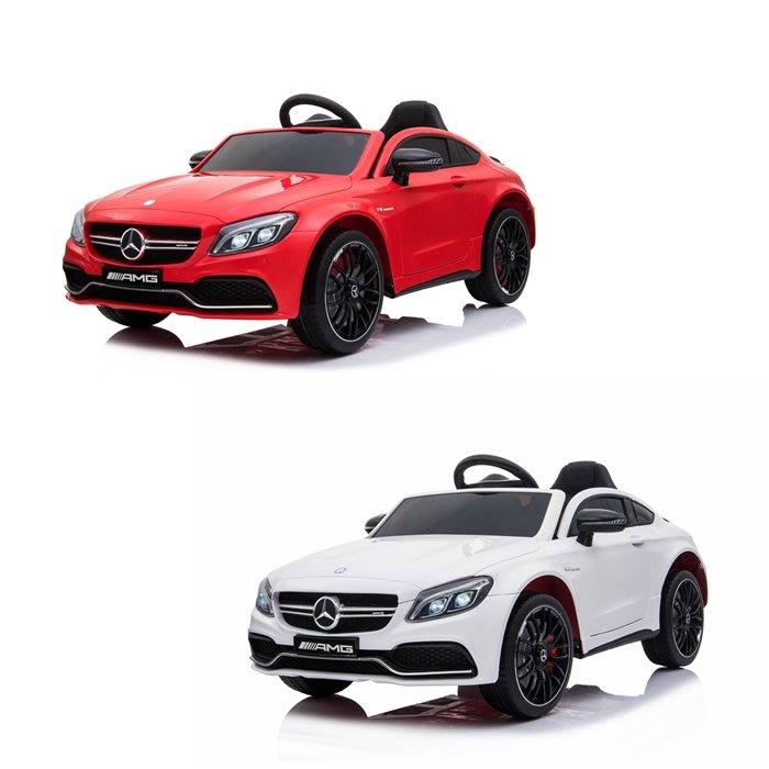 CHING-CHING親親-賓士C63s雙驅(附遙控可搖擺)兒童電動車(紅色/白色)RT-1588