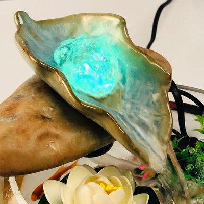 轉運珠小擺件風水流水球小噴泉玻璃魚缸招財風水球桌面裝飾加濕器小豬佩奇
