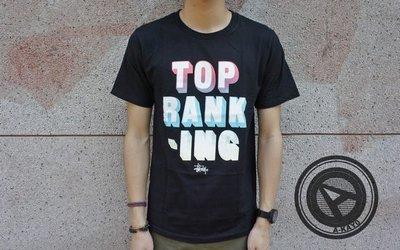【促銷商品】STUSSY 2014 春夏 TOP RANKING TEE 黑【1903262BK】