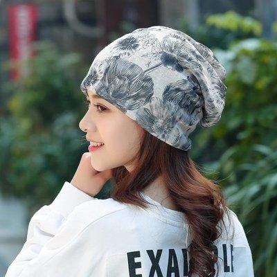 帽子女春夏套頭透氣化療帽女薄光頭睡帽堆堆百搭頭巾女月子包頭帽YSY