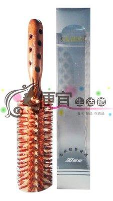 便宜生活館 【美髮器材】SAKARJAVE豬鬃進口圓梳(大)--設計師專用  輕鬆梳出光澤感