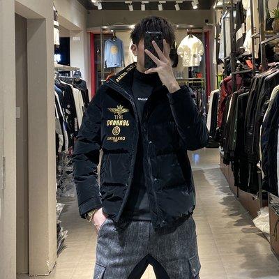 歐韓貨潮牌羽絨服男2021冬季新款歐美潮流時尚休閒外套男士修身羽絨衣
