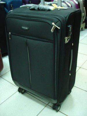 【玩皮豹】1881歐式27吋飛機輪360度加大拉桿行李箱/旅行箱8529(黑色)超輕台灣製造 嘉義市