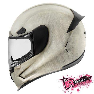 ♚賽車手的試衣間♚ Icon® Airframe Pro Construct White 美國 街頭 重機 全罩 安全帽