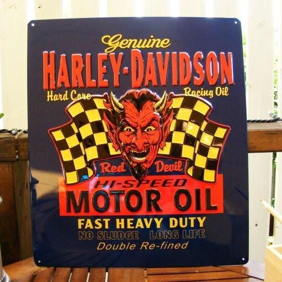 (I LOVE樂多)進口HARLEY DAVIDSON鐵製立體看板.壁飾.打造居家/車庫/酒吧/店家裝飾情境自己來
