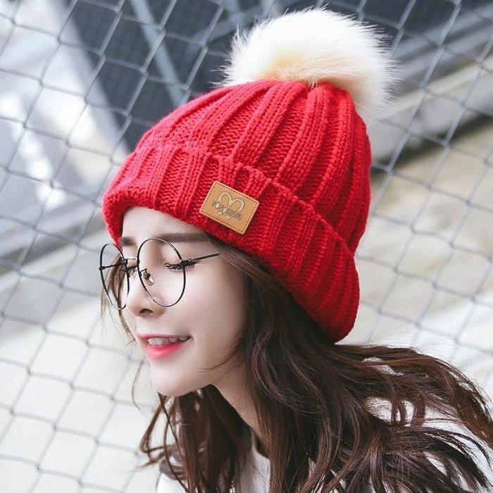 帽子女冬季學生潮韓版針織包頭秋冬天加絨百搭毛線帽保暖護耳休閒
