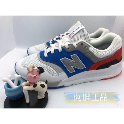 阿胖小舖---New Balance 997系列 男女款 白藍色 復古休閒鞋 CM997HZJ