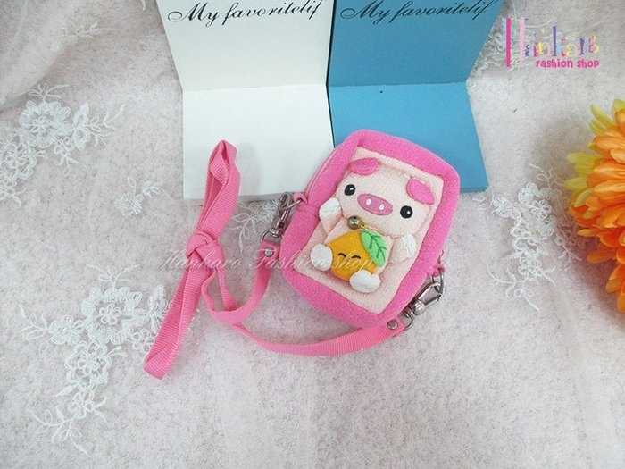 ☆[Hankaro]☆日韓流行小豬造型兒童斜背包(樣品出清)