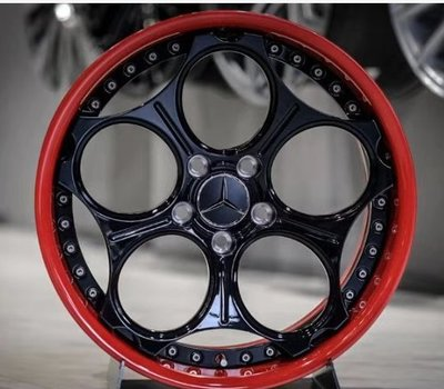 賓士定作 專用輪圈 鍛造鋁圈 c250 c300 18吋兩片式 鍛造 18x8.5 18x9.5 et35 5h112