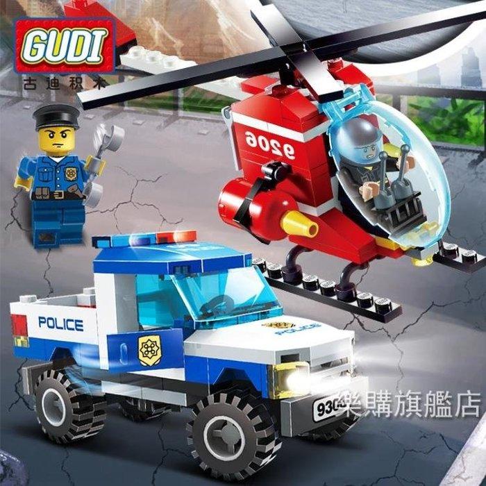 組裝積木兼容積木兒童益智拼裝飛機城市系列警車3男孩5汽車玩具4周歲6-時尚前線
