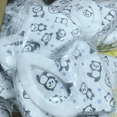 ☆大象屋☆Bnn 成人立體口罩圓仔 貓熊耳掛立體口罩50入盒裝-藍色特價$349