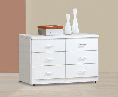 【南洋風休閒傢俱】臥室系列-現代簡約可愛四尺純白六斗櫃 衣櫃 衣櫥 SY43-4