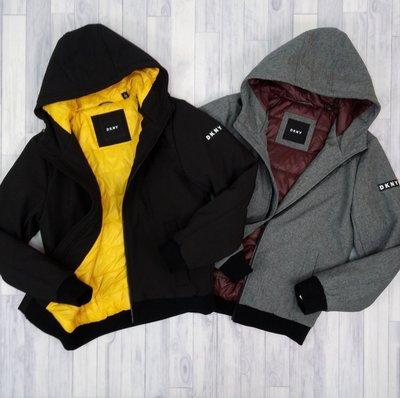 7705 FD3 現貨 觸感佳 DKNY 男款 鋪棉 長大衣 防風 縮口 雙色 長袖 連帽 外套 Donna Karan