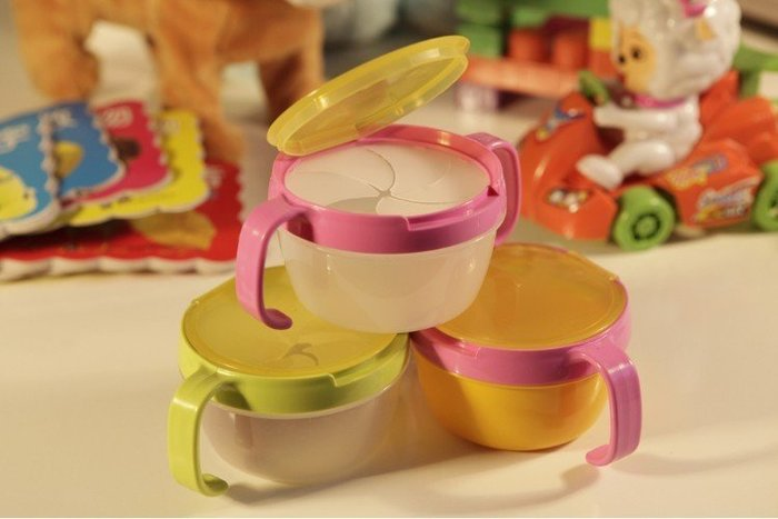 【現貨】日本防灑設計 雙柄零食罐 零食杯 餅乾碗  [ MACHI SHOP ]