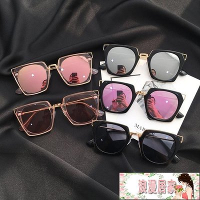 墨鏡女潮明星同款眼鏡新款圓形彩色太陽鏡...