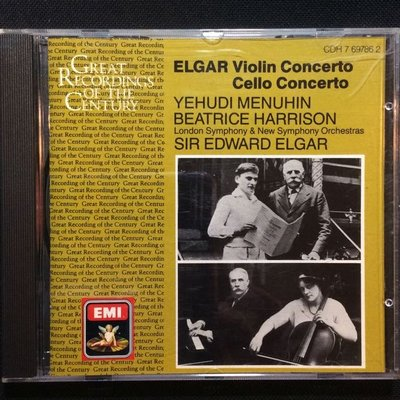 Elgar艾爾加-小提琴&大提琴協奏曲 曼紐因小提琴/艾爾加本人指揮 英國版