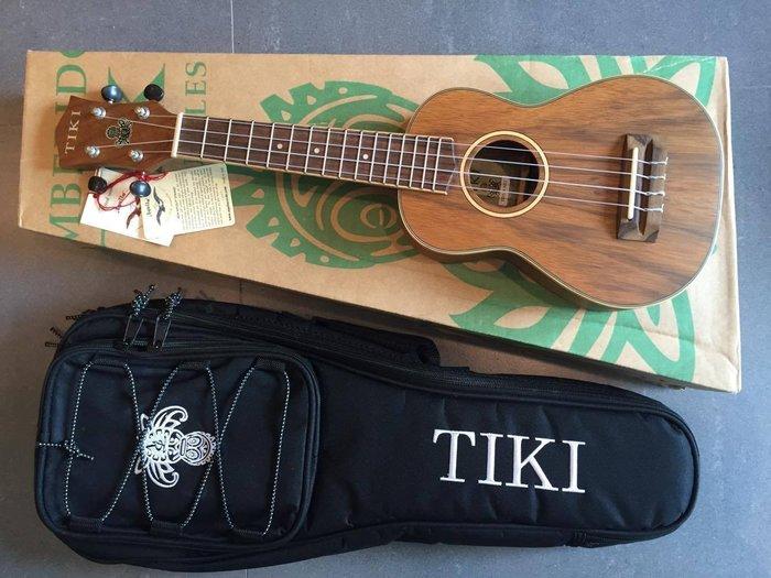 【六絃樂器】全新 TIKI TDS-4 UKULELE 21吋黑桃木烏克麗麗 加送調音器 / 現貨特價