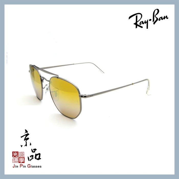 【RAYBAN】RB3648 004/I3 鐵灰框 金水銀鏡片 將軍款 雷朋太陽眼鏡 公司貨 JPG 京品眼鏡