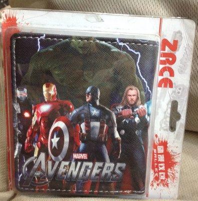 全新復仇者聯盟 美國隊長 與 鋼鐵人 彩色 Marvel Avengers 皮夾 零錢包  精美盒裝 生日禮物