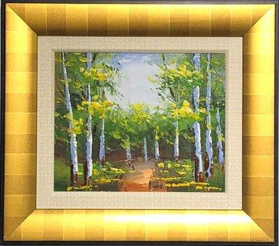 【松風閣畫廊】#油畫 #純手繪  35 x 39m /t200252c
