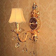新款華鐙燭光 單頭K9水晶壁燈 臥室 床頭壁燈 客廳 餐廳歐式壁燈 AH438.
