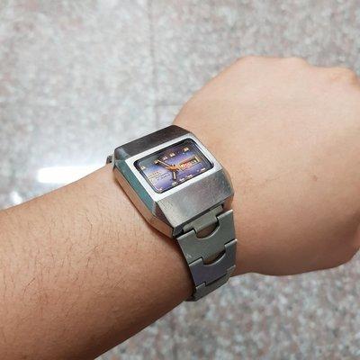 機械錶<行走順暢>日本 TELUX ☆大鋼頭☆<稀少錶款>36mm 早期漂亮 老錶 男錶 另有 賽車錶 飛行錶 軍錶 潛水錶 水鬼錶 女錶 中性錶 E07