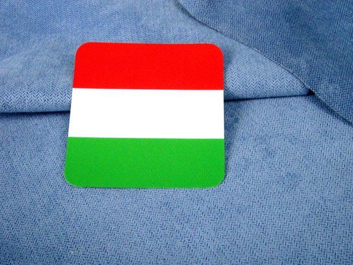 【衝浪小胖】匈牙利方形旅行箱貼紙/抗UV防水/登機行李箱/世界多國可收集訂製