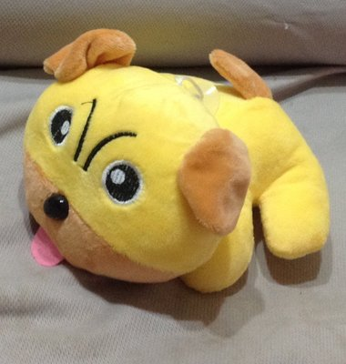 全新吐舌可愛黃色趴趴狗