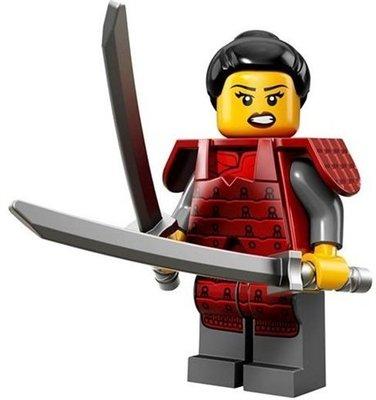【LEGO 樂高】益智玩具 積木/ Minifigures人偶系列: 13代人偶包 71008 | 日本女武士+雙刀