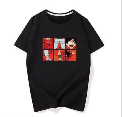 短袖t恤男 新款日系復古潮流學生孫悟空七龍珠體恤衫打底衫