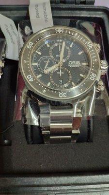 (自動降價)全新ORIS  Pro Diver1000米全鈦金屬潛水錶,錶徑51mm全新膠膜為撕,貴重物品只限面交!歡迎看錶!誠可小議!大刀勿來!謝謝!