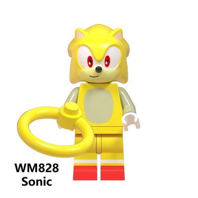 【積木班長】WM828 音速小子 超級索尼克 SONIC 電玩 電影 人偶 袋裝/相容 樂高 LEGO 積木