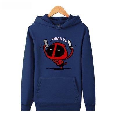 ~SeVeN Shop~ Deadpool死侍#3~漫威英雄~連帽帽T~加厚高磅數刷絨毛鋪棉~連帽帽T~大 衛衣