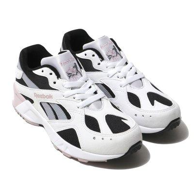 =CodE= REEBOK AZTREK 反光麂皮網布慢跑鞋(白黑粉紅)DV4084 復古 CLASSIC 老爹鞋 男女