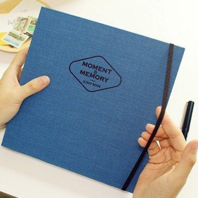 ♀高麗妹♀韓國 PAPERIAN SCRAP BOOK L 刻劃瞬間 布感剪貼簿 記錄/計劃 萬用筆記本(3色選)預購