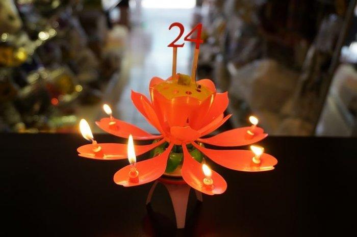 發光派對屋@第三代安心亞同款 數字花朵 旋轉 音樂 炫光 蠟燭(會旋轉可插年齡數字)