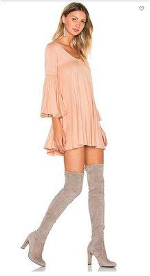 美國品牌 保證真品正品 RACHEL PALLY 粉紅色五分袖洋裝舒適彈性棉質寬鬆版娃娃裝喇叭袖 現貨原價202美金
