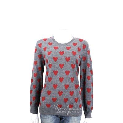 米蘭廣場 BURBERRY 愛心美麗諾羊毛長袖針織衫(灰色) 1640062-06