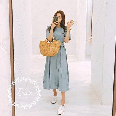 【ZEU'S】韓國學院風休閒百搭洋裝『...