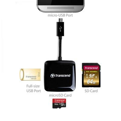 新莊八德《全球二年保 主打OTG功能》創見 Transcend 手機用 讀卡機 RDP9 TS-RDP9K