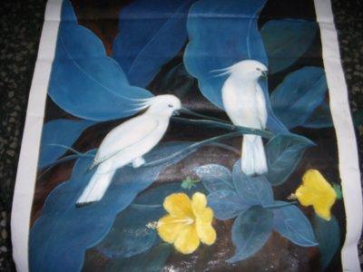 『奇特的鸚鵡』手工油畫原作無框長寬約67x58公分最富麗豪華的一幅油畫