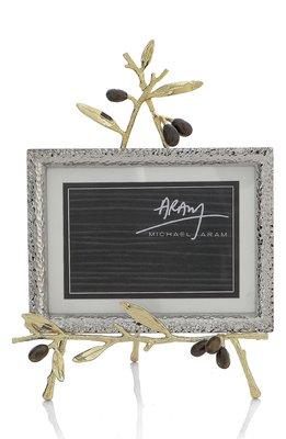【美國Michael Aram】Olive Branch 4x6 / 5x7 橄欖枝葉造型相框架 金屬相框架 相框立架