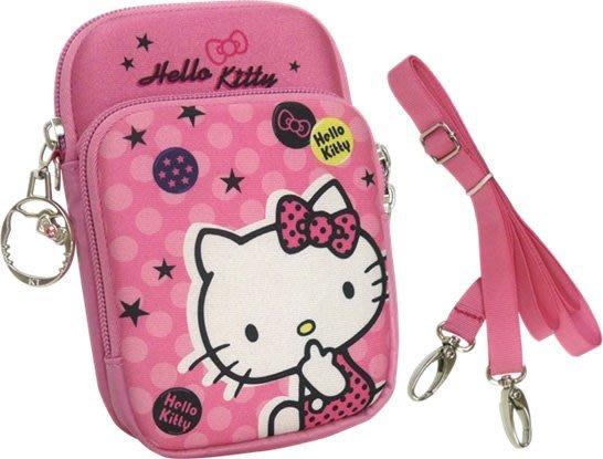 凱蒂貓KITTY多層大容量收納數位防護袋/手機袋--秘密花園
