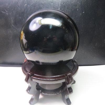 【競標網】天然漂亮墨西哥黑曜岩球2240公克115mm(K54)(贈座)(網路特價品、原價2000元)限量一件