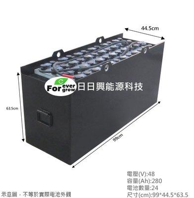 【日日興能源科技】 UNU TOYOTA 豐田 1.3噸 7FBE13 電動堆高機蓄電池 48V280Ah