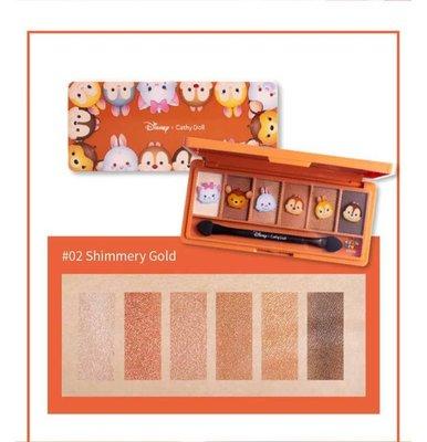 Eyeshadow Palette 1g x 6Colors Cathy Doll Disney Tsum Tsum #2 Shimmery Gold