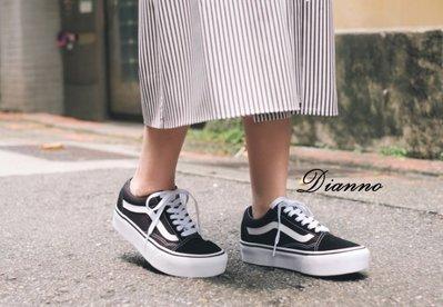 帝安諾~ Vans Old Skool Platform 2.0 款黑白厚底 女鞋 增高