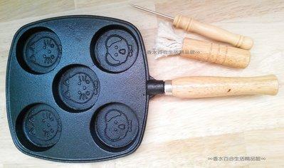 台製鑄鐵紅豆餅烤盤5孔 烤紅豆餅機 鬆餅烤盤 煎蛋模 車輪餅烤盤 煎蛋盤 烤飯糰模具 紅豆餅烤 盤雞蛋糕烤盤 章魚燒烤盤