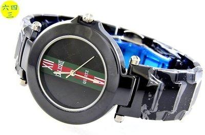 (六四三精品)高檔超硬度圓型陶瓷錶.錶徑3.8公分.中性精準錶!
